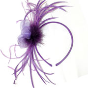 Anna purple fascinator prom hair accessories Fascinators