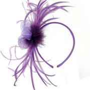 Anna purple fascinator prom hair accessories Fascinators