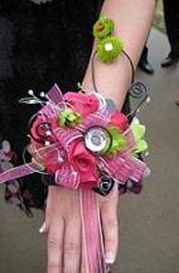BLOOMS Embellished_Wrist_Corsage DressDibs Let the Dress Dictate Flower Style