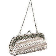 J Furmani Puffed Satin Clutch Puffed Satin Clutch