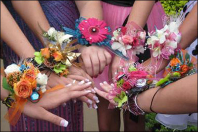 Wrist Corsage Collage DressDibs Central PA